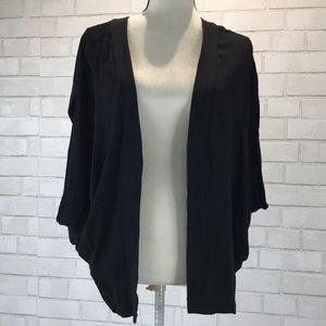 Elevenses Batwing Shirt Sleeve Open Front Jacket